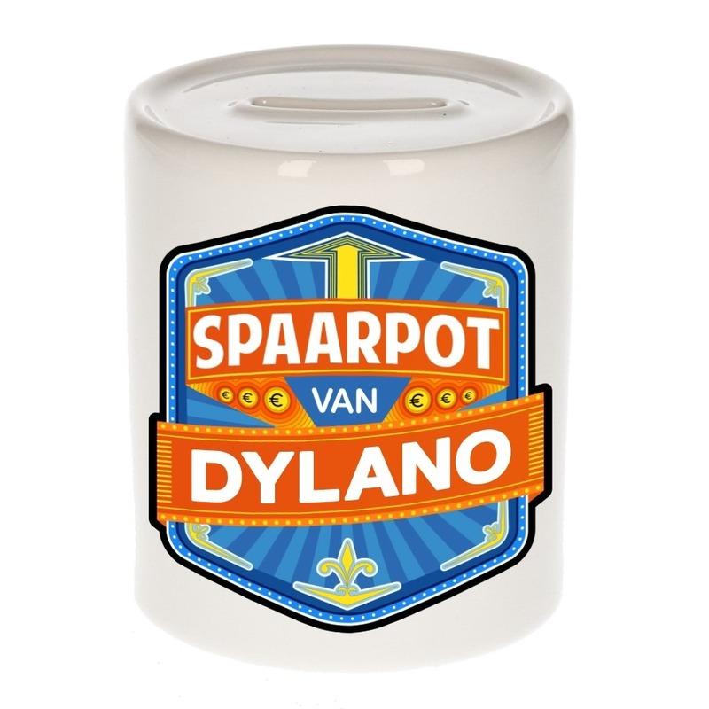 Kinder cadeau spaarpot voor een Dylano