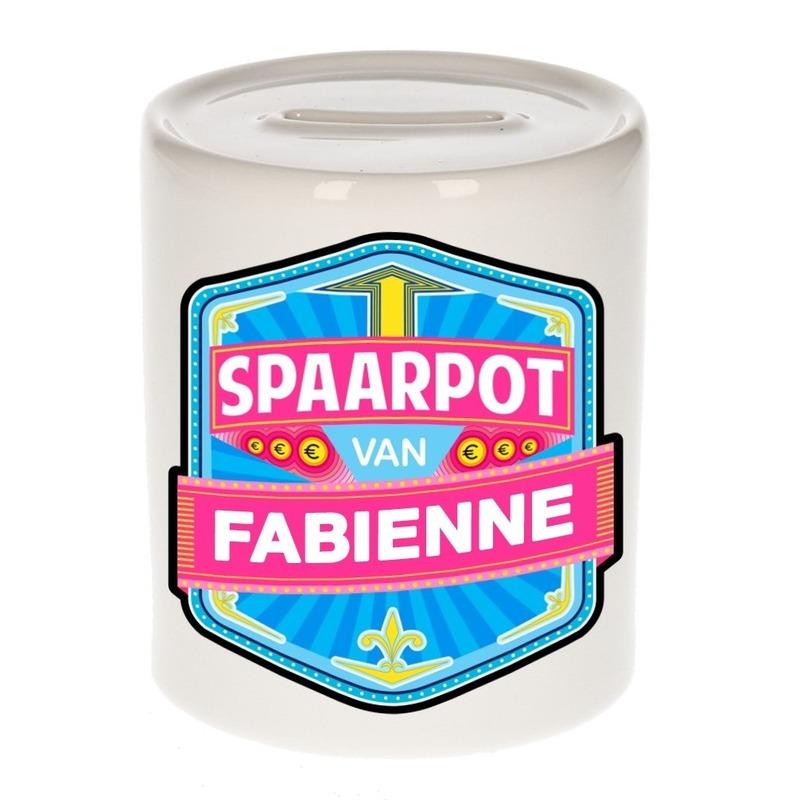 Kinder cadeau spaarpot voor een Fabienne