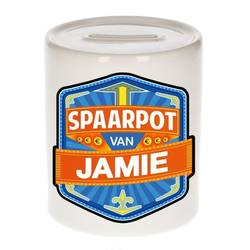 Kinder cadeau spaarpot voor een Jamie