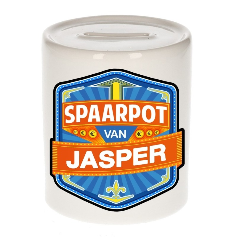 Kinder cadeau spaarpot voor een Jasper