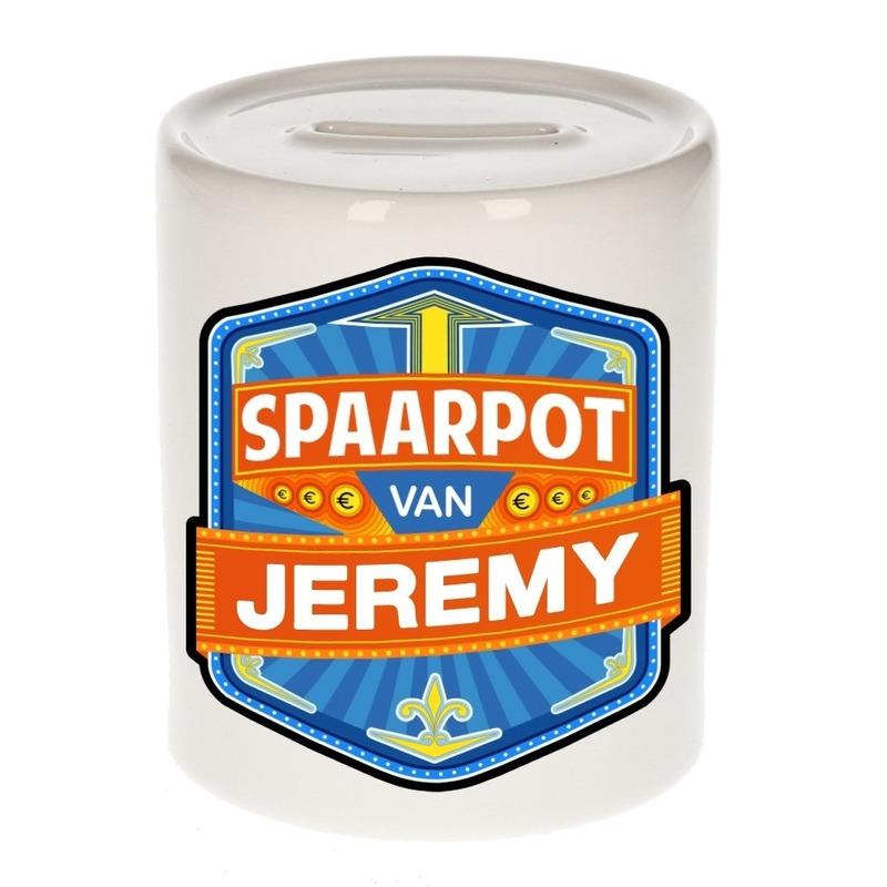 Kinder cadeau spaarpot voor een Jeremy