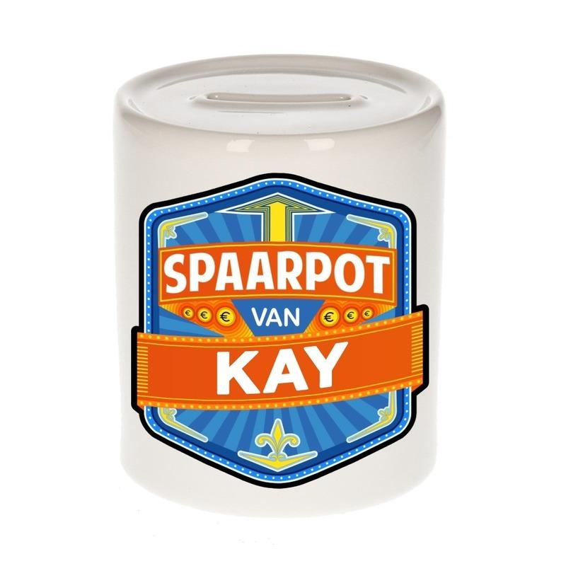 Kinder cadeau spaarpot voor een Kay