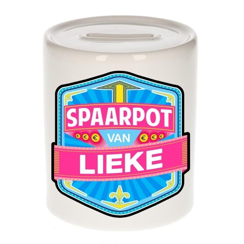 Kinder cadeau spaarpot voor een Lieke