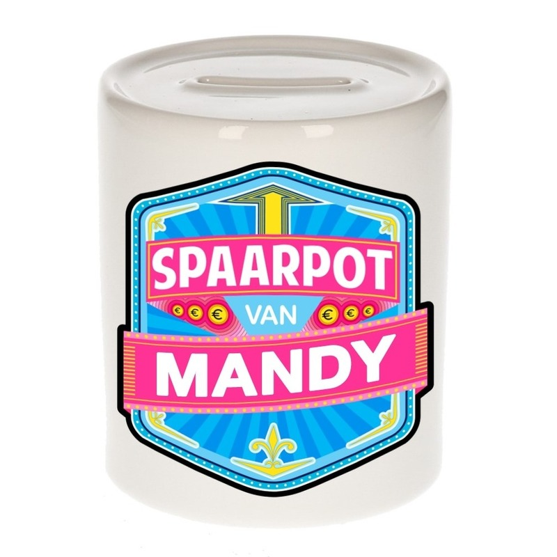 Kinder cadeau spaarpot voor een Mandy