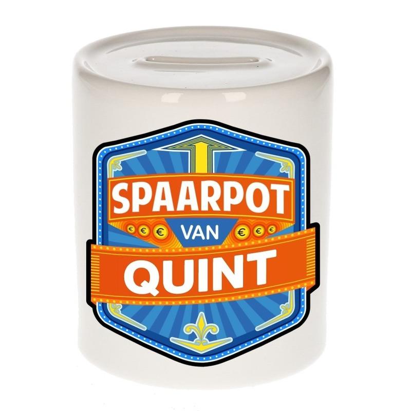 Kinder cadeau spaarpot voor een Quint
