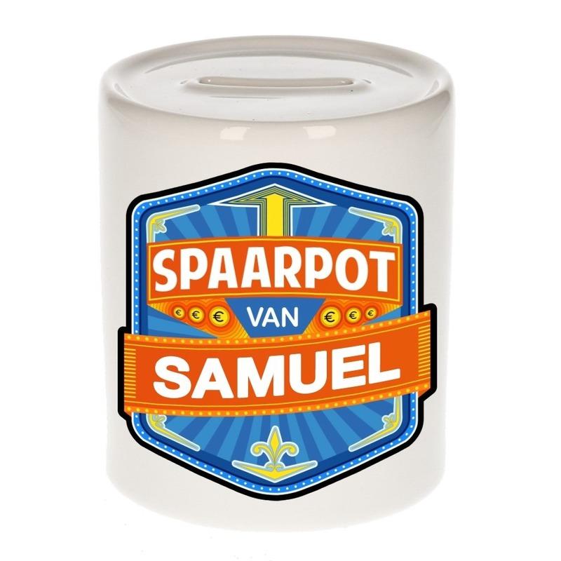 Kinder cadeau spaarpot voor een Samuel