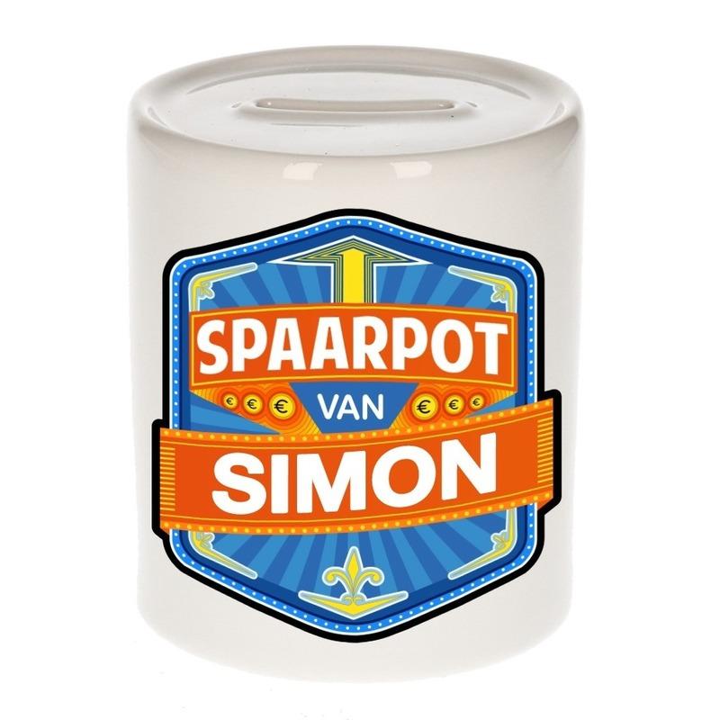 Kinder cadeau spaarpot voor een Simon