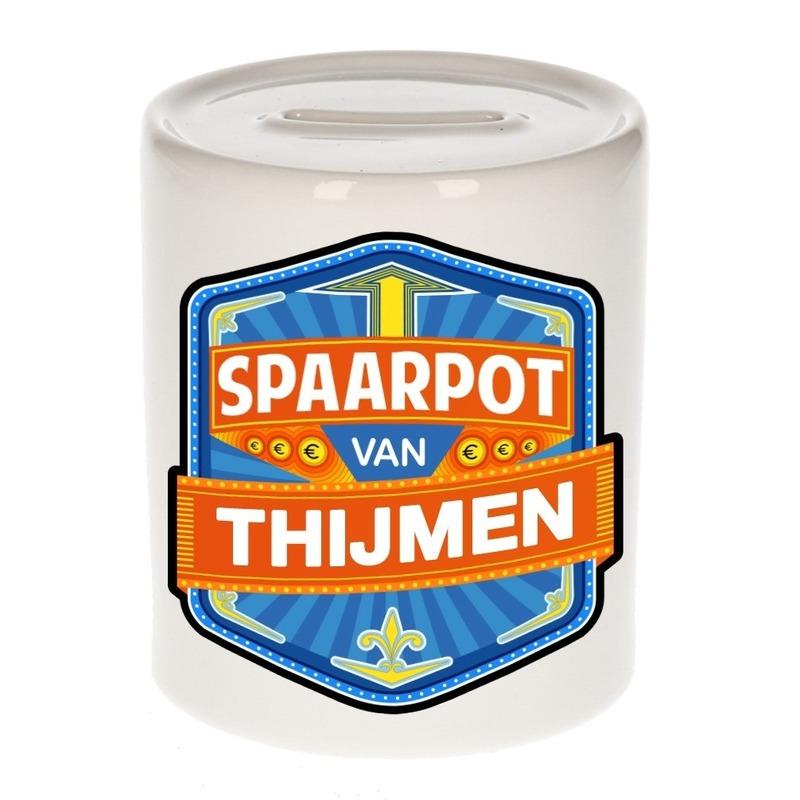 Kinder cadeau spaarpot voor een Thijmen