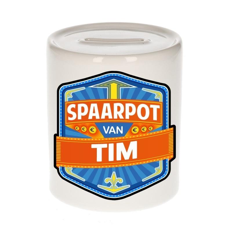 Kinder cadeau spaarpot voor een Tim