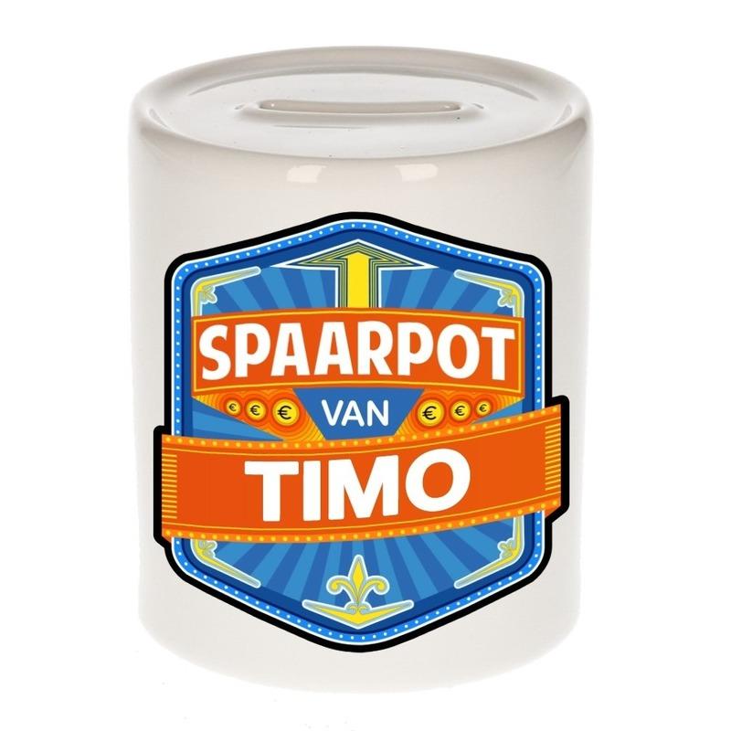 Kinder cadeau spaarpot voor een Timo