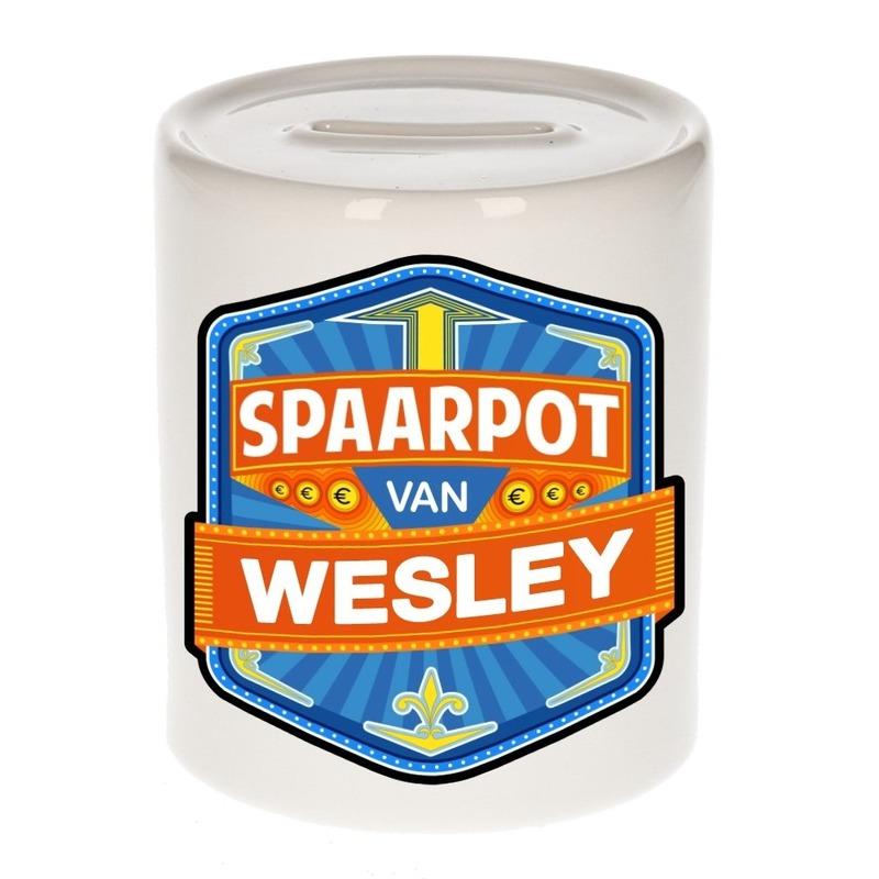 Kinder cadeau spaarpot voor een Wesley