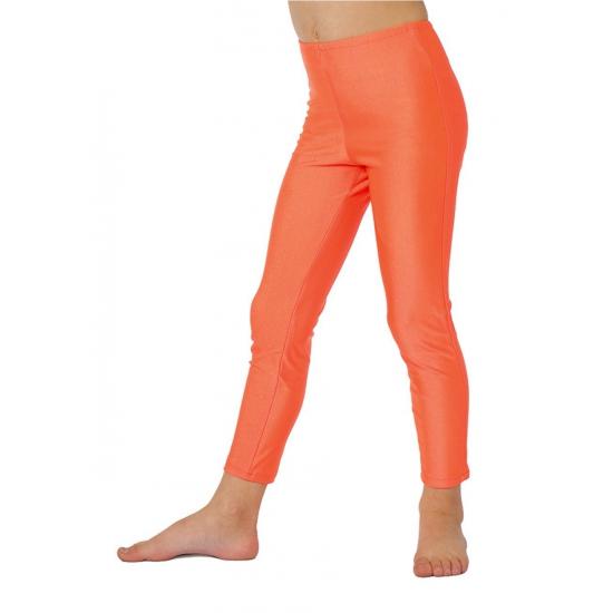 Oranje leggings voor kinderen