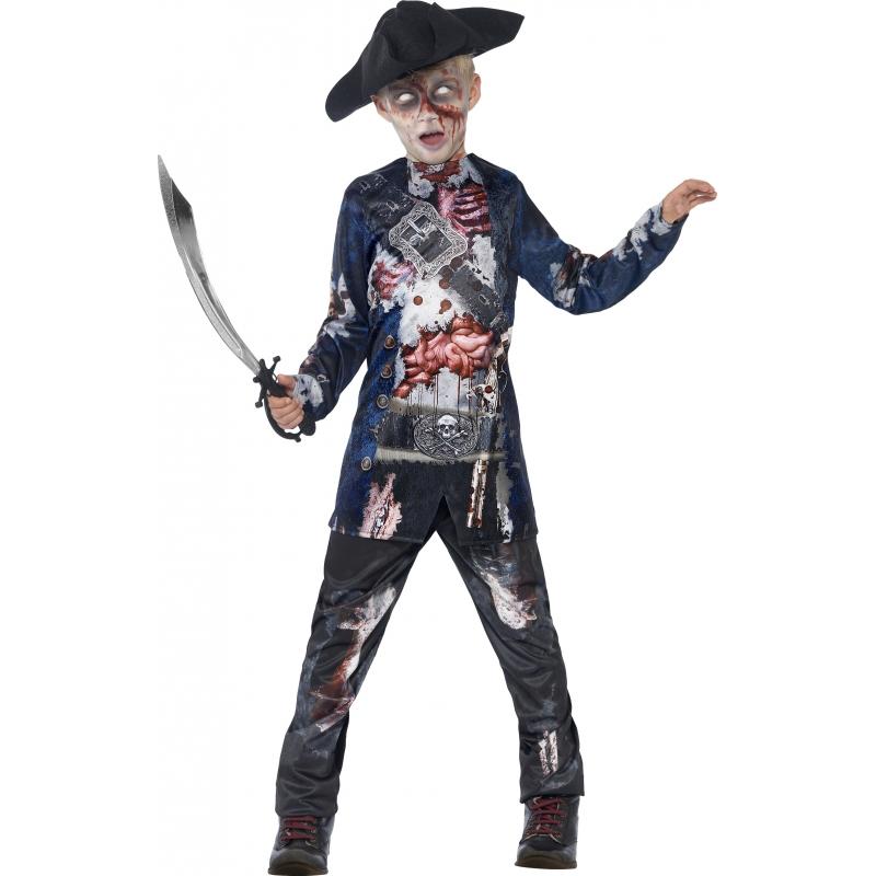 Piraten zombie verkleedkleding voor jongen