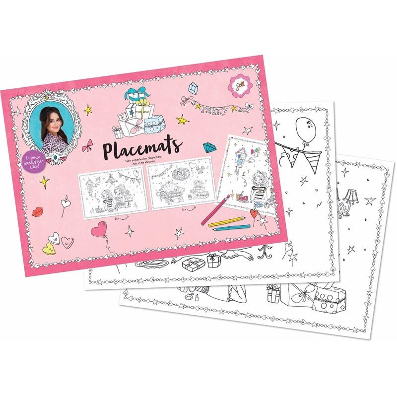 Placemats Jill knutsel setje 10 stuks