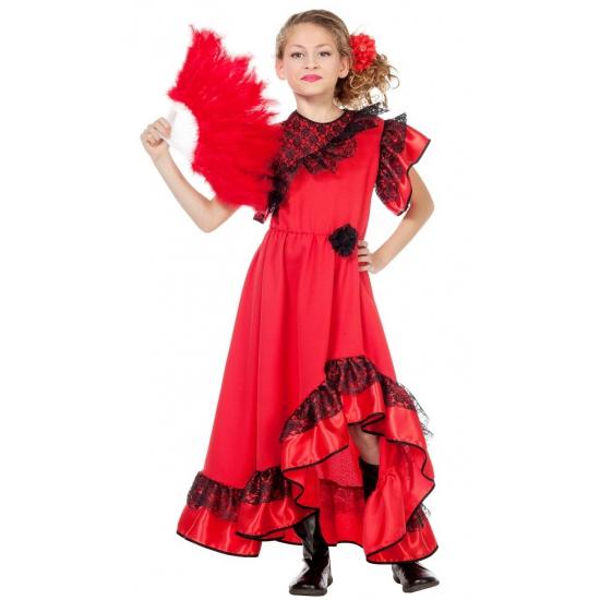 Rode Spaanse jurk voor meisjes
