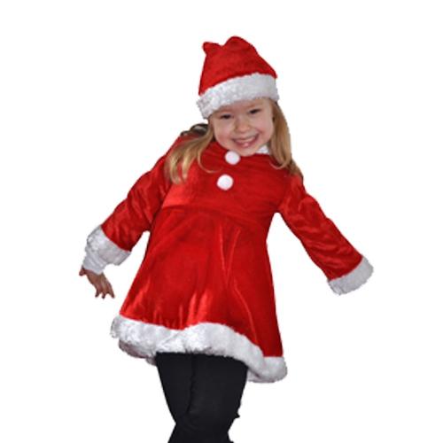 Rood met witte kerstjurkje kinderen