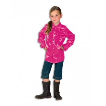 Roze disco blouse voor meisjes