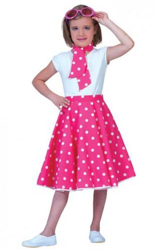 Roze rok met witte stippen voor meiden