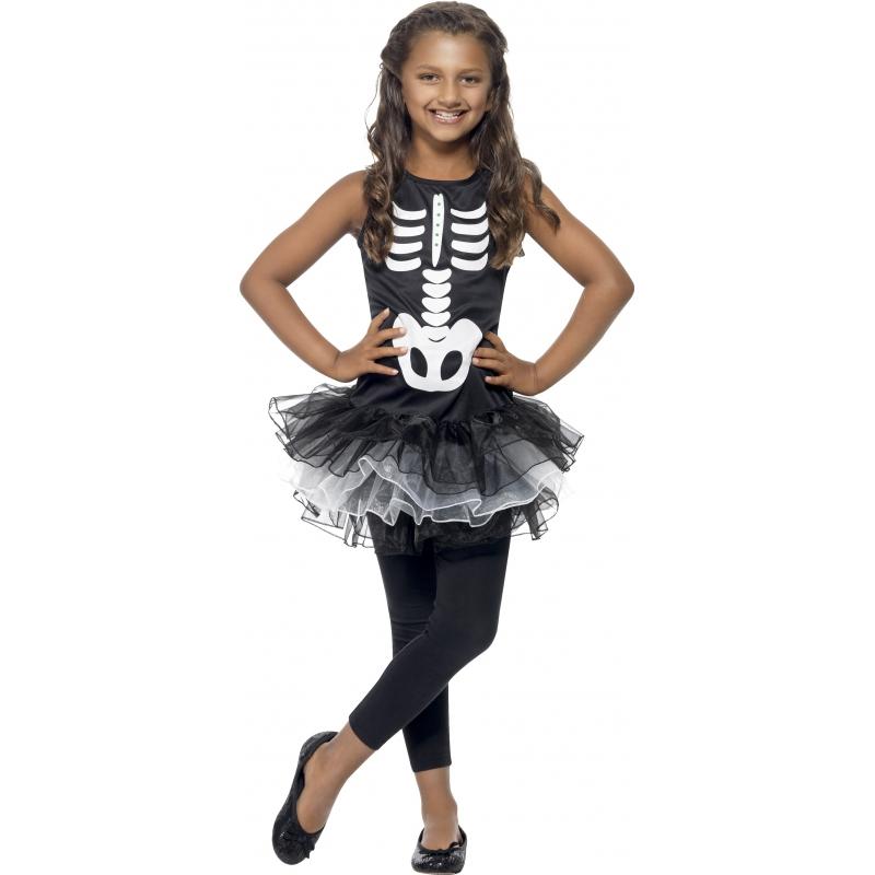 Skeletten verkleedkleding voor meiden