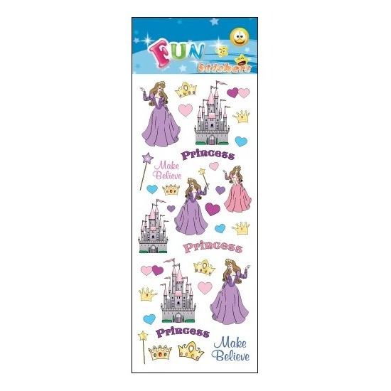 Stickertjes prinses en kasteel