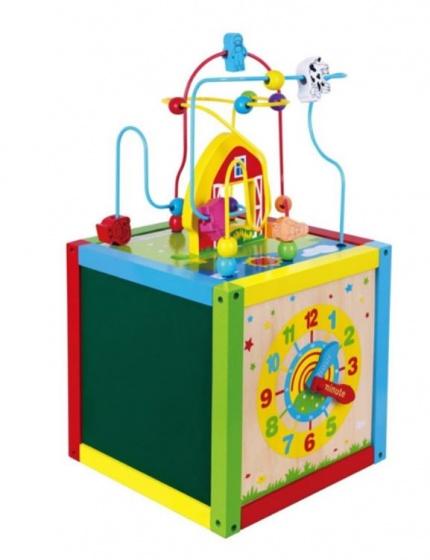 Viga Toys activiteitenkubus 30 x 30 x 55 cm