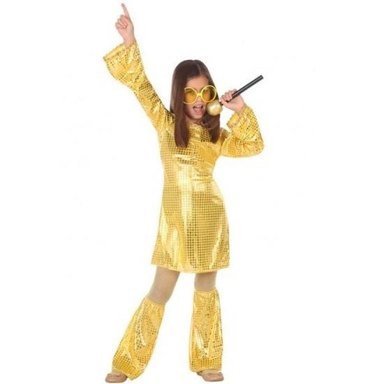 Voordelige goud glitter pak met pailletten voor meisjes