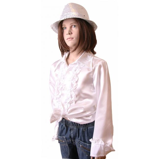Witte disco blouse voor meisjes