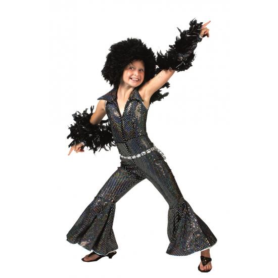 Zwart disco suit voor kinderen