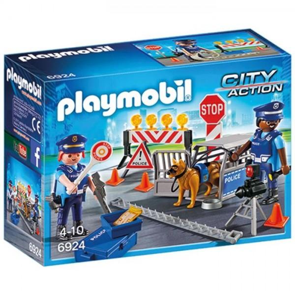 6924 Playmobil Politie Wegversperring
