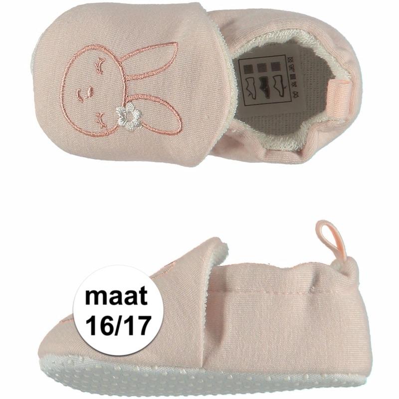 Baby meisje pantoffels met konijntje maat 16/17