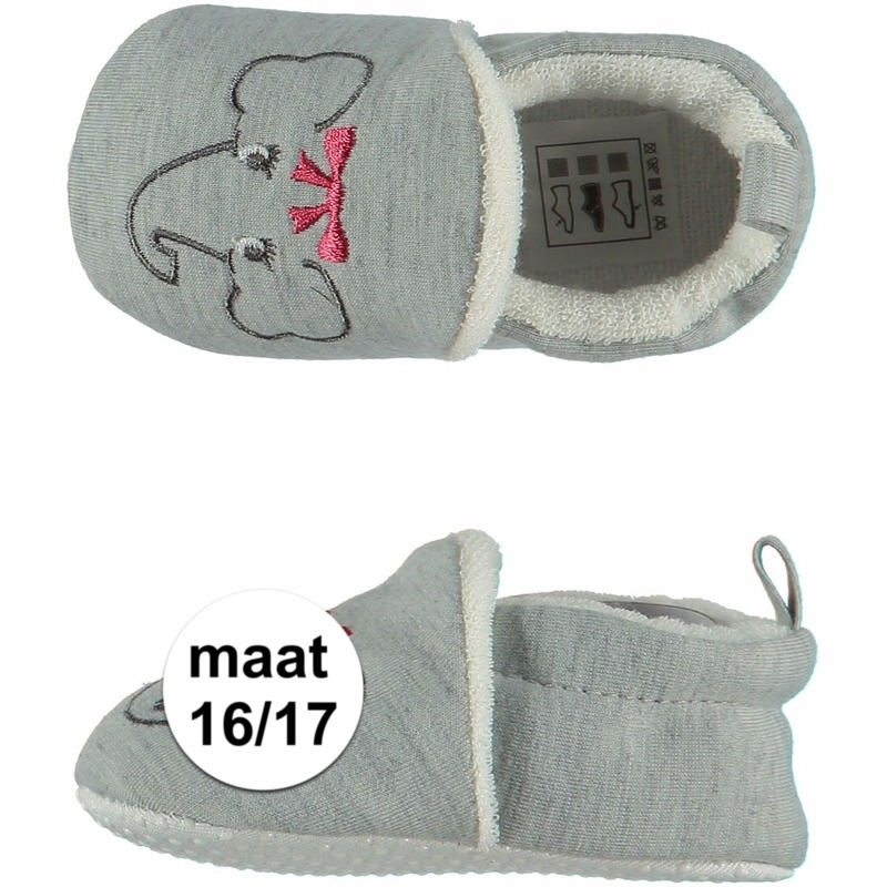 Baby meisje pantoffels met olifantje maat 16/17