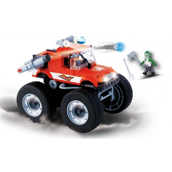 Cobi pull-back monster truck set
