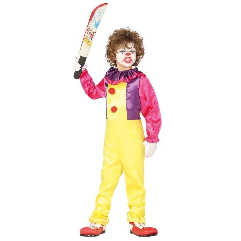 Halloween - Horror clown Freak verkleed kostuum voor kinderen
