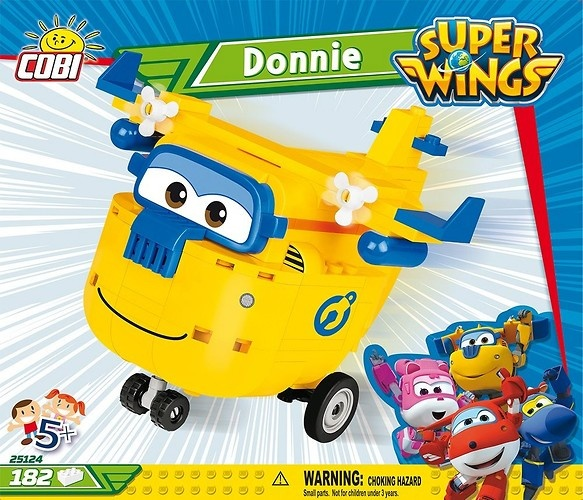 Cobi Super Wings bouwpakket Donnie geel/blauw 182 delig (25124)