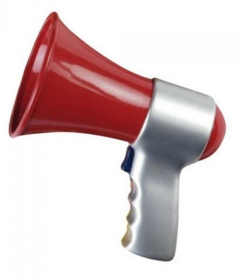 Klein megafoon rood