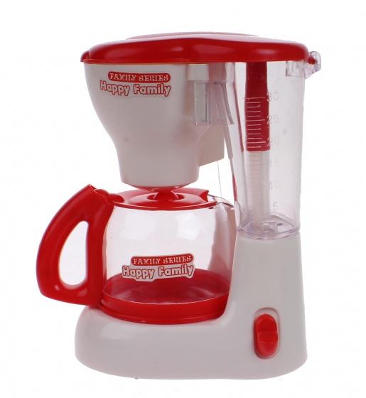 Luna speelgoed koffiezetapparaat junior rood/wit 15 cm