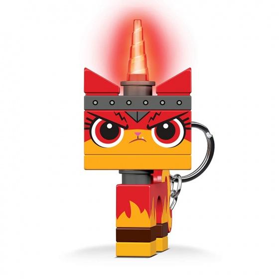 LEGO Movie 2: Angry Kitty sleutelhanger met licht 7 cm rood