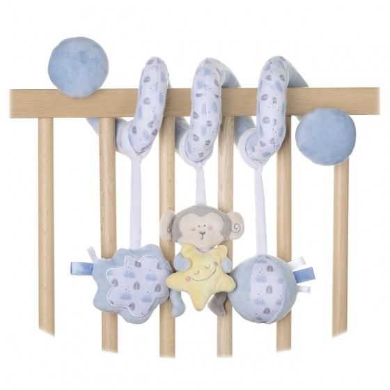 Saro boxspiraal 21 cm blauwe aapje