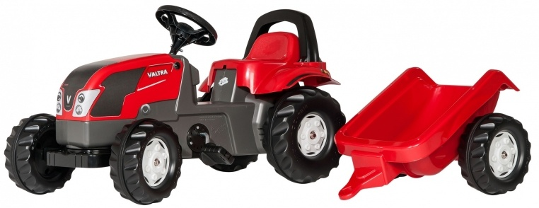 Rolly Toys traptractor RollyKid Valtra junior rood