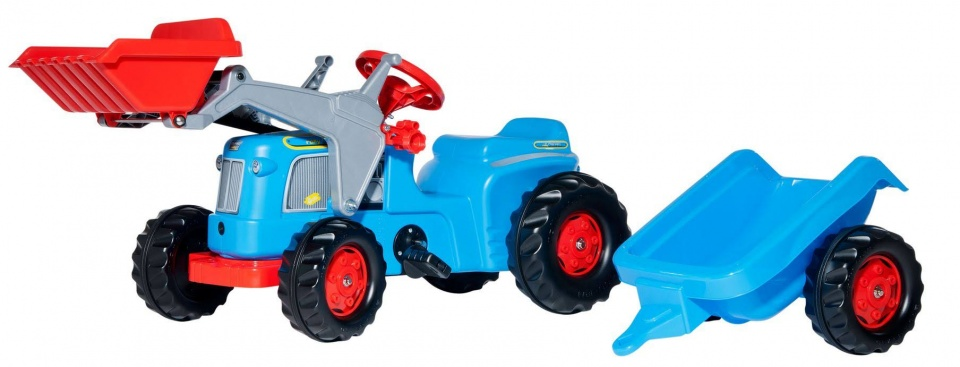 Rolly Toys traptractor RollyKiddy Classic blauw/rood