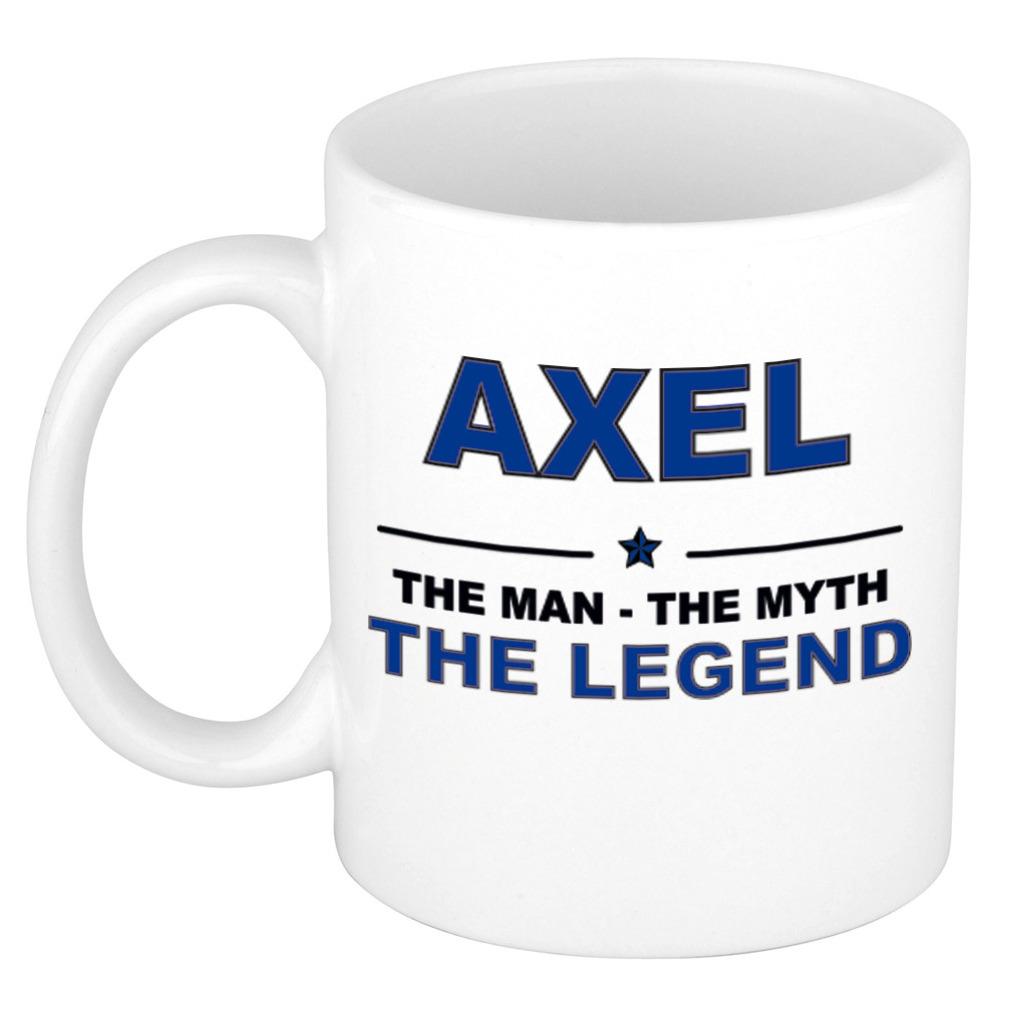 Axel The man, The myth the legend pensioen cadeau mok/beker 300 ml