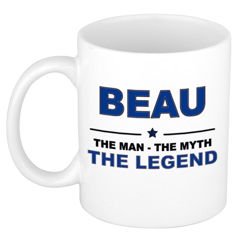 Beau The man, The myth the legend pensioen cadeau mok/beker 300 ml
