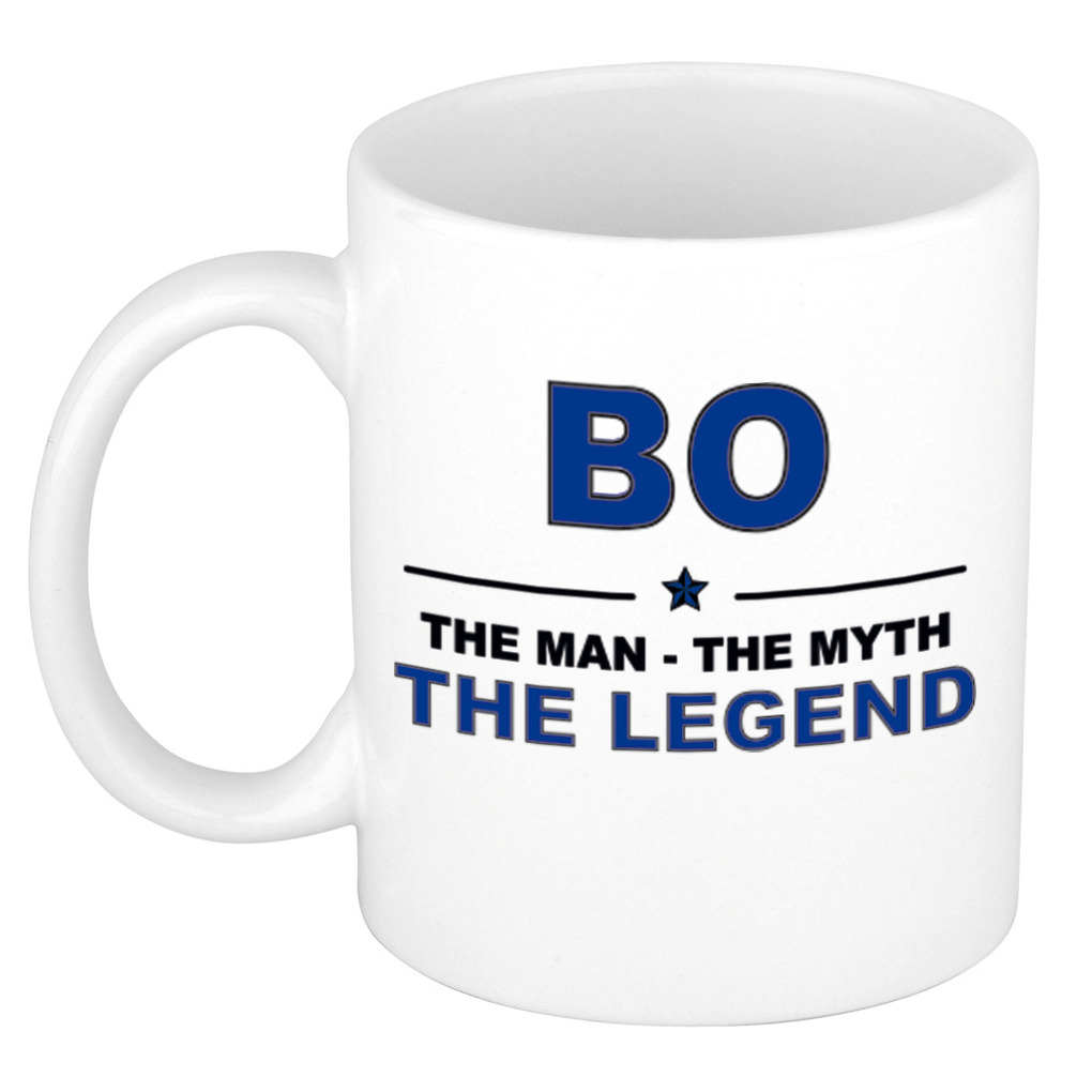 Bo The man, The myth the legend pensioen cadeau mok/beker 300 ml