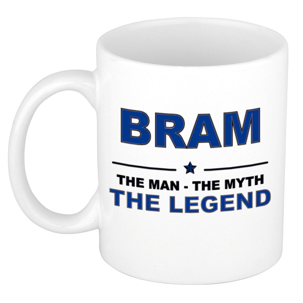 Bram The man, The myth the legend pensioen cadeau mok/beker 300 ml