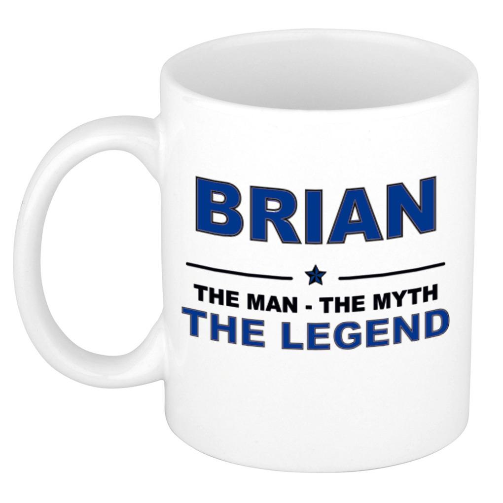 Brian The man, The myth the legend pensioen cadeau mok/beker 300 ml