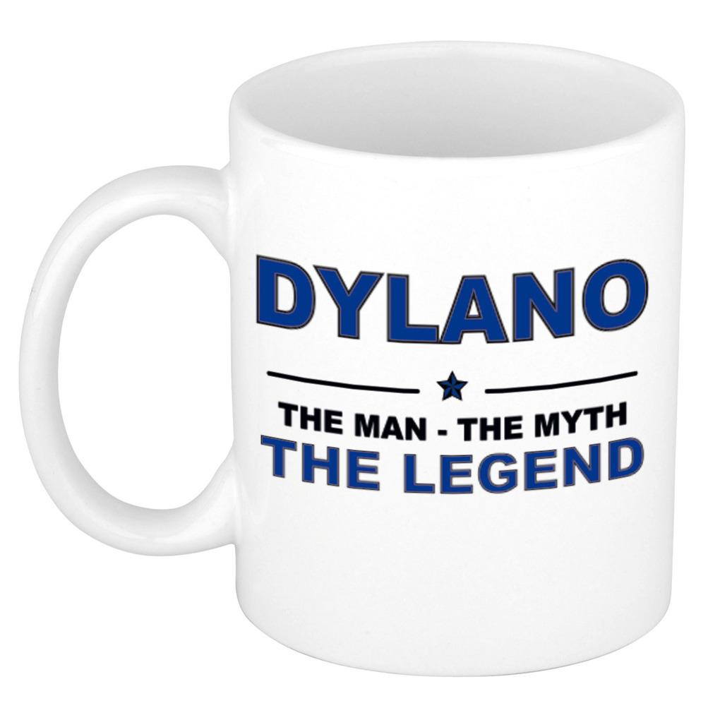 Dylano The man, The myth the legend pensioen cadeau mok/beker 300 ml
