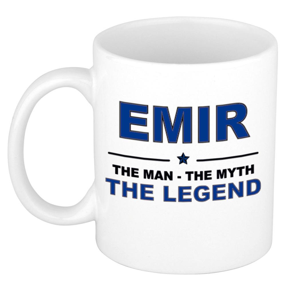 Emir The man, The myth the legend pensioen cadeau mok/beker 300 ml