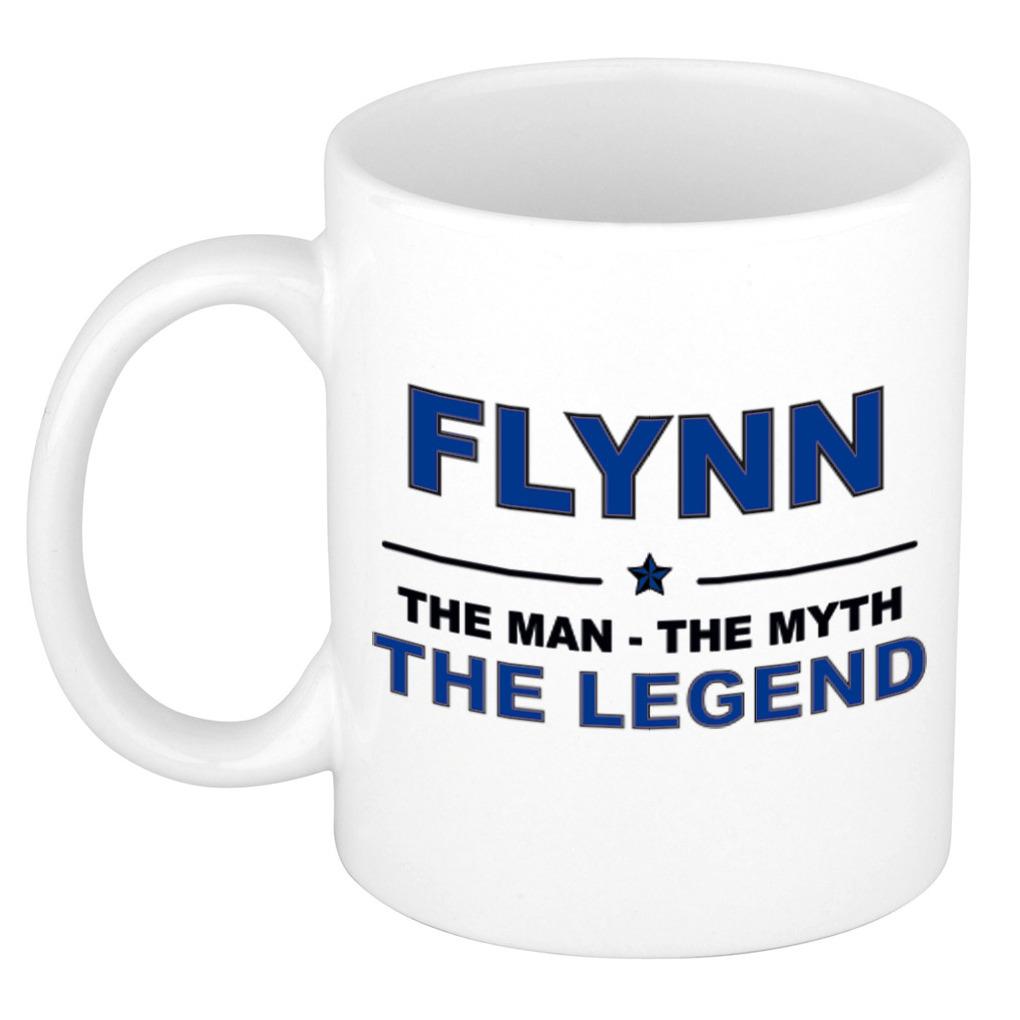 Flynn The man, The myth the legend pensioen cadeau mok/beker 300 ml