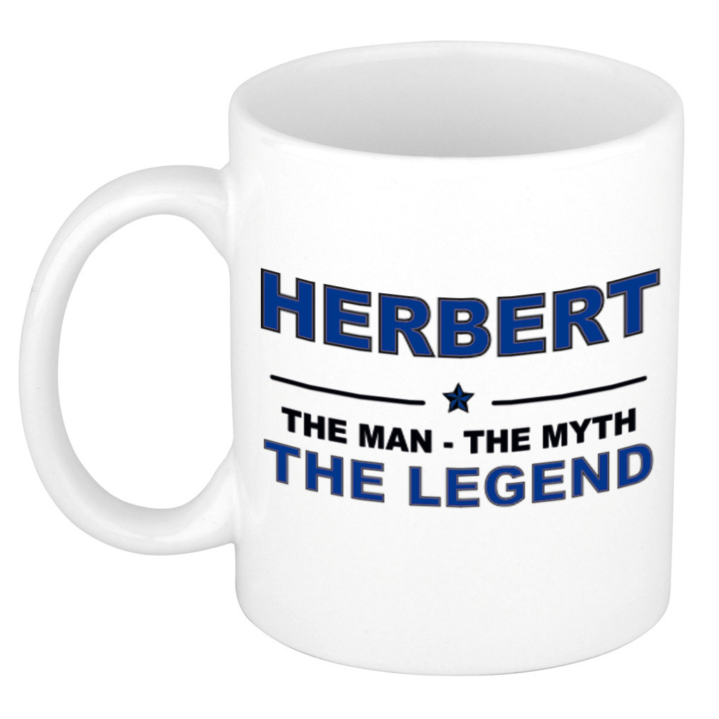 Herbert The man, The myth the legend pensioen cadeau mok/beker 300 ml