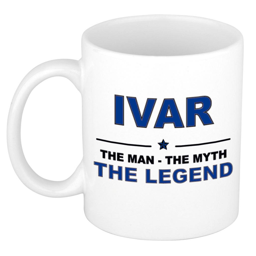 Ivar The man, The myth the legend pensioen cadeau mok/beker 300 ml